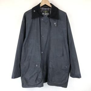 【古着】 Mc Orvis オービス オイルドジャケット made in EANGLAND コーデュロイ襟 ブラック系 メンズS 【中古】 n015059|outfit-vintage