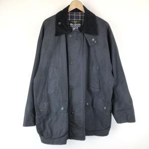【古着】 Mc Orvis オービス オイルドジャケット made in EANGLAND コーデュロイ襟 ブラック系 メンズXL 【中古】 n015062|outfit-vintage