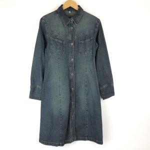 【古着】 デニムコート メタルボタン ブルー系 レディースM 【中古】 n015764 outfit-vintage
