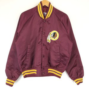 Chalk Line ナイロンスタジャン アワードジャケット NFL WASHINGTON REDSKINS 80年代 ワイン系 メンズM n016797|outfit-vintage