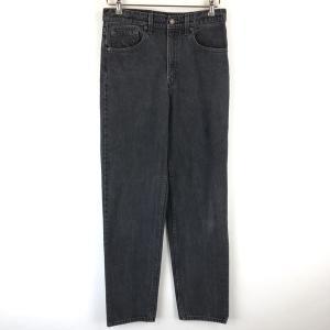 【古着】 Levi's リーバイス 550 テーパードデニムパンツ made in USA ブラック系 メンズW31 【中古】 n017006|outfit-vintage