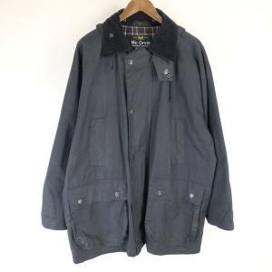 Mc ORVIS オービス オイルドジャケット made in GREAT BRITAIN コーデュロイ襟 フード付き ブラック系 メンズL|outfit-vintage