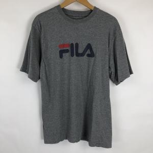 【古着】 FILA フィラ ロゴプリントTシャツ グレー系 メンズM 【中古】 n018986|outfit-vintage