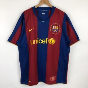 【古着】 NIKE ナイキ サッカーユニフォーム FIT-DRY FCバルセロナ ワイン系 メンズXL 【中古】 n021554|outfit-vintage