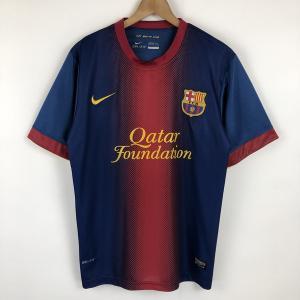 【古着】 NIKE ナイキ サッカーユニフォーム FIT-DRY FCバルセロナ ネイビー系 メンズS 【中古】 n021555|outfit-vintage