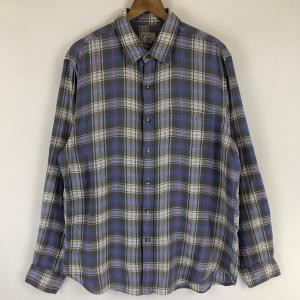 【古着】 J.CREW ジェイクルー ライトフランネルシャツ チェック柄 グレー系 メンズL n022121 outfit-vintage