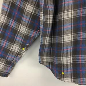 【古着】 J.CREW ジェイクルー ライトフランネルシャツ チェック柄 グレー系 メンズL n022121 outfit-vintage 03