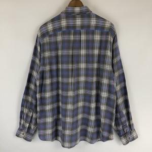 【古着】 J.CREW ジェイクルー ライトフランネルシャツ チェック柄 グレー系 メンズL n022121 outfit-vintage 04