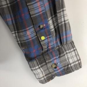 【古着】 J.CREW ジェイクルー ライトフランネルシャツ チェック柄 グレー系 メンズL n022121 outfit-vintage 05