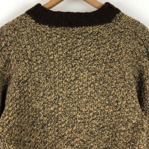 レディースカーディガン ニットアウター 霜降り 厚手 ヴィンテージ ブラウン系 レディースL n022246 outfit-vintage 05