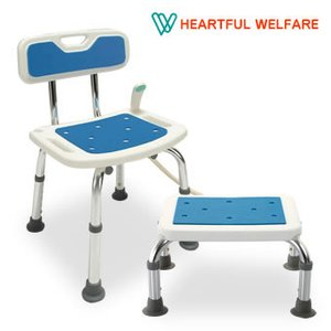 シャワーチェア ステップ セット バスチェア お風呂 浴室 椅子 踏み台 介護 背もたれ付き 立ち座りらくらく 送料無料|outlet-f