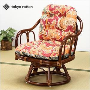 ラタンチェア 籐椅子 回転チェア 天然籐 ラタン 回転 座椅子 回転式高座椅子|outlet-f