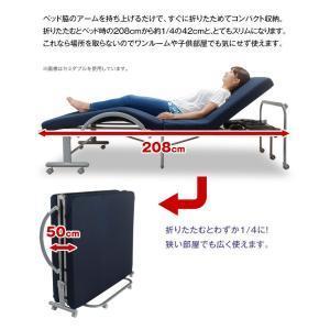 電動ベッド リクライニング 電動 WALTZ ワルツ 低反発メッシュ仕様 電動リクライニングベッド シングル 折りたたみ 収納式  送料無料|outlet-f|07