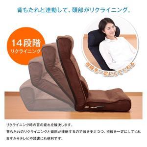 座椅子 腰痛 高反発 ハイバック ランバーサポート おしゃれ SLEEple スリープル 手元レバー式 腰サポート高反発座椅子|outlet-f|04
