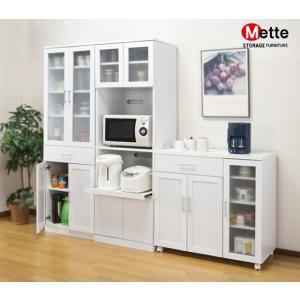 食器棚 キッチンボード カップボード 幅59cm 高さ180cm Mette メッテ キッチン収納カップボード|outlet-f|03