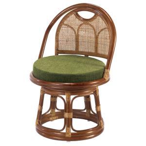東京ラタン 天然籐 籐製 回転チェア 座椅子 ミドルタイプ アジアン 送料無料|outlet-f