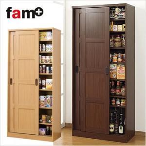 食器棚 ダイニングボード キッチン収納 キッチンストッカー 木製 引き戸 多目的収納 高さ160cm fam ファムプラス 大量収納庫  送料無料|outlet-f