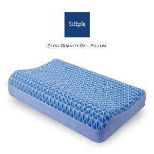 枕 まくら 卵割れない ジェルピロー 無重力ジェル枕 吸着 フィット枕 洗える ブルージェル ゲル枕 スリープル|outlet-f