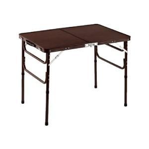 折りたたみ テーブル 軽量 アルミ製 ハイ ロー 2段階高さ調節 コンパクト収納 90cm幅 outlet-f