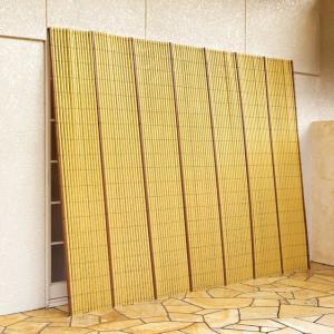 代金引換不可 竹垣風 たてす たてず よしず 約幅184×高さ184cm 樹脂製|outlet-f