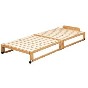 中居木工 らくらく 折りたたみ式 桧 すのこベッド シングル 日本製 代金引換不可|outlet-f