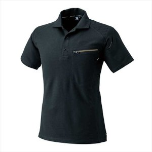 TS DESIGN (TSデザイン) ワークニットショートポロシャツ ブラック 51055 2002 作業服 ユニフォーム outlet-grasshopper