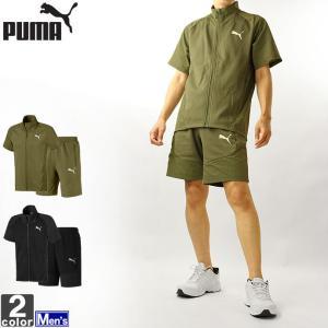 セットアップ プーマ PUMA メンズ 582957 582965 エヴォ ストライプ ライト 半袖 上下セット 2106 半袖シャツ ハーフパンツ outlet-grasshopper