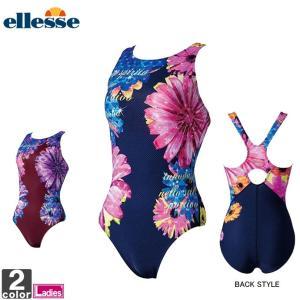 フィットネス水着 エレッセ ellesse レディース ES38211 プリントULワンピース 1910 ワンピース水着の商品画像|ナビ