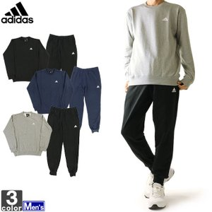 【在庫処分セール】アディダス/Adidas メンズ ESS スウェット クルーネック 上下セット GEG05 GEG03 1811 クルーネック 裏毛スウェット|outlet-grasshopper
