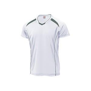 WUNDOU (ウンドウ) バレーボールシャツ ホワイト×ダークグレー P-1610 1710 メンズ 紳士 男性|outlet-grasshopper