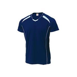 WUNDOU (ウンドウ) バレーボールシャツ ネイビー×サックス P-1610 1710 メンズ 紳士 男性|outlet-grasshopper