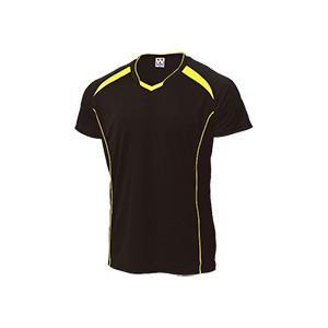 WUNDOU (ウンドウ) バレーボールシャツ ブラック×イエロー P-1610 1710 メンズ 紳士 男性|outlet-grasshopper
