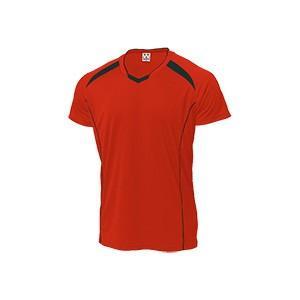 WUNDOU (ウンドウ) バレーボールシャツ レッド×ブラック P-1610 1710 メンズ 紳士 男性|outlet-grasshopper