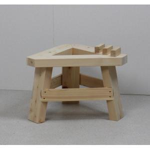 国産ひのき製もちつき用木台 (ナガノ産業木製臼キネセット1.5升用専用木台)|outlet-woodgoods