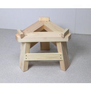 国産ひのき製もちつき用木台 (ナガノ産業木製臼キネセット1升用専用木台)|outlet-woodgoods