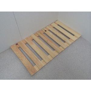 押入れ すのこ スノコ 布団 木製 収納 日本製 クローゼット 通気性 カビ 湿気 国産 ひのき すのこ 40×75cm 2枚組 outlet-woodgoods