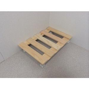 押入れ すのこ スノコ 布団 木製 収納 日本製 クローゼット 通気性 カビ 湿気 国産ひのきすのこ 30×45cm キャスター付き 2枚組  outlet-woodgoods