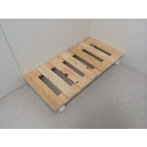押入れ すのこ スノコ 布団 木製 収納 日本製 クローゼット 通気性 カビ 湿気 国産 ひのき すのこ 30×60cm キャスター付き 2枚組  outlet-woodgoods