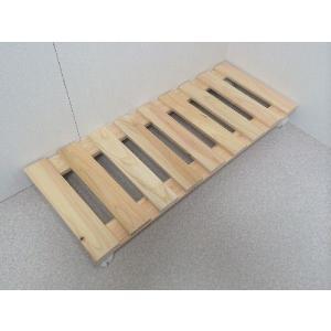 押入れ すのこ スノコ 布団 木製 収納 日本製 クローゼット 通気性 カビ 湿気 国産 ひのき すのこ 30×75cm キャスター付き 2枚組 outlet-woodgoods