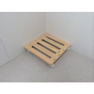 押入れ すのこ スノコ 布団 木製 収納 日本製 クローゼット 通気性 カビ 湿気 国産 ひのき すのこ 40×40cm キャスター付き 2枚組  outlet-woodgoods