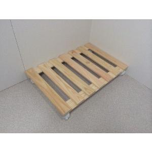 押入れ すのこ スノコ 布団 木製 収納 日本製 クローゼット 通気性 カビ 湿気 国産 ひのき すのこ 40×60cm キャスター付き 2枚組 outlet-woodgoods