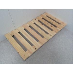 押入れ すのこ スノコ 布団 木製 収納 日本製 クローゼット 通気性 カビ 湿気 国産 ひのき すのこ 40×75cm キャスター付き 2枚組  outlet-woodgoods