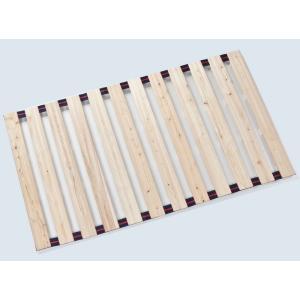 国産ひのきすのこロールベッド ベビー用70cm×120cm ベルト付き 日本製|outlet-woodgoods