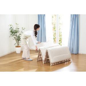 桐四つ折りすのこベッド シングル100cm幅 日本製|outlet-woodgoods