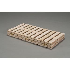 桐四つ折りすのこベッド ダブル140cm幅 日本製|outlet-woodgoods