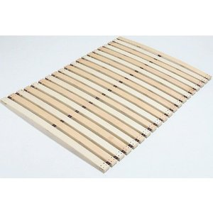 木製すのこロールベッド スプリングタイプ ダブル140cm幅 【当社意匠登録済】|outlet-woodgoods
