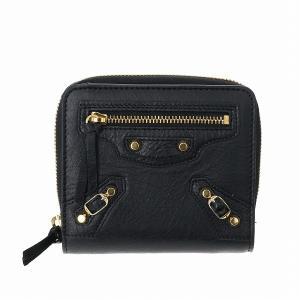 【箱破損】バレンシアガ 二つ折り財布 レディース ブラック 310699 D940G 1000|outleta