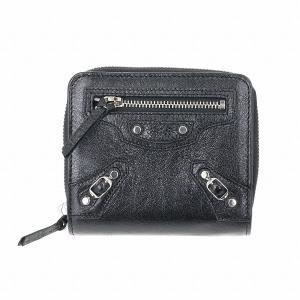【箱破損】バレンシアガ 二つ折り財布 レディース ブラック 310699 D940N 1000|outleta