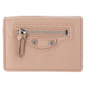 バレンシアガから三つ折り財布のご紹介です。ヴィンテージ加工が施されたラムスキンとライトなキャンバス地...