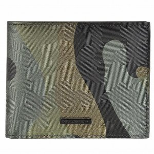 【箱破損】エンポリオ アルマーニ/EMPORIO ARMANI 財布 メンズ ナイロン 2つ折り財布 グリーンカモフラージュ YEM122 YCF6V 80004 outleta